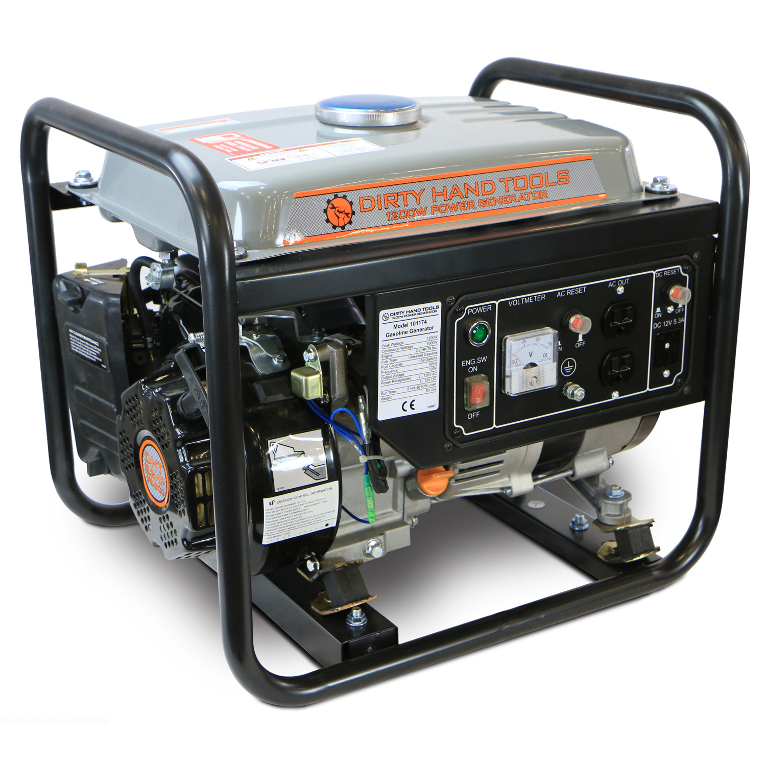1200W Gas Powered Generator