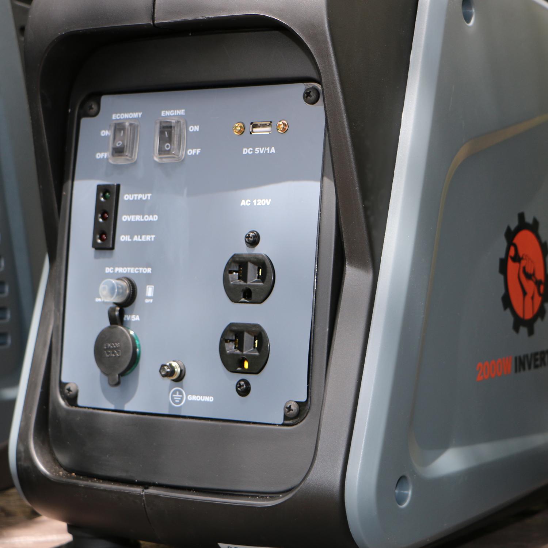Gas Powered 2000w Inverter Generator Dirty Hand Tools